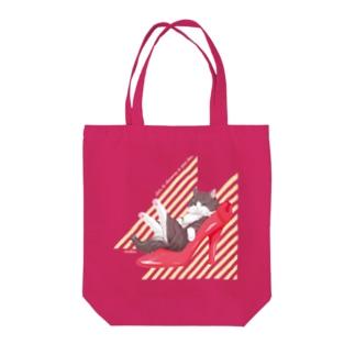 Heel cat Tote bags