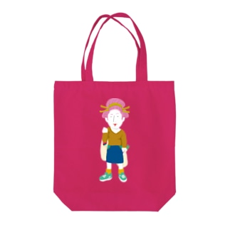 Shopping Girl/濃色トートバッグ Tote bags