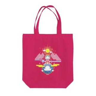 聖域 太陽と月と神社 Tote bags