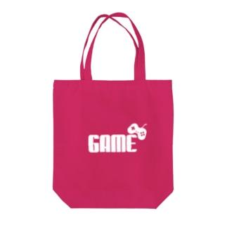GAMEロゴ白 Tote bags