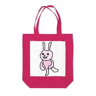 ほくそ笑むウサギ Tote bags