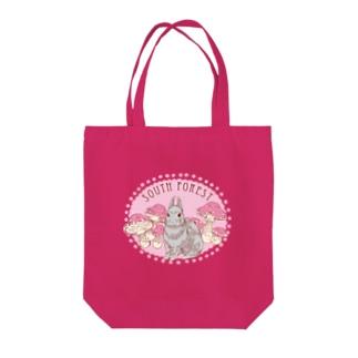 きのこウサギ Tote bags