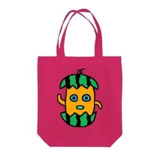 モグトート(スイカ) Tote bags