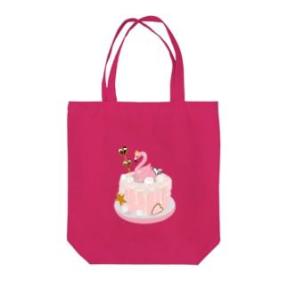 フラミンゴケーキ Tote Bag