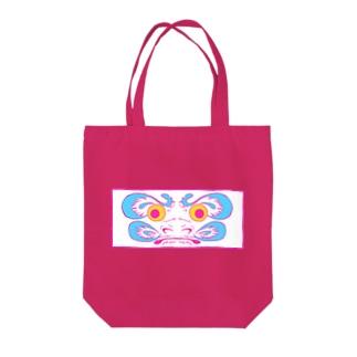 ネオダルマ Tote bags