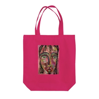 pink face Tote bags