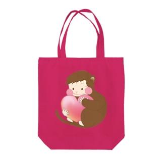 おさる LOVE Tote bags