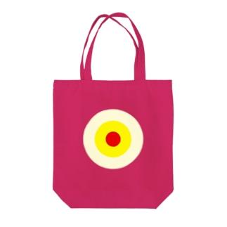 サークルa・クリーム・黄・赤 Tote bags