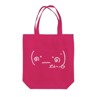 (๑•﹏•๑`)ぷえ〜っ(白ロゴ) Tote bags