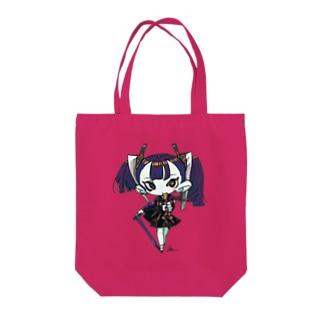 ヤヤチョモランマの丑三つ日寺ちゃん Tote bags
