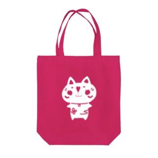 ウメ花ちゃんのシルエット Tote bags