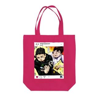 覚悟 Tote bags
