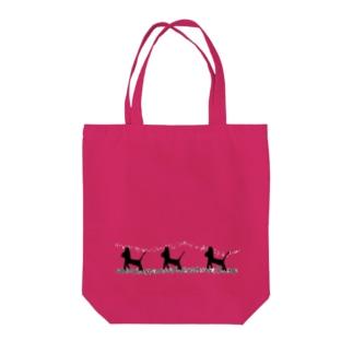 シルエットにゃんこ(サラダ) Tote bags