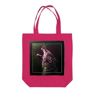 ラブオオカミ Tote bags