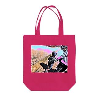 みち Tote bags
