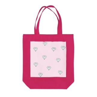 ピンクダイヤモンド Tote bags