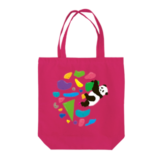 HIGEQLOのGO CLIMB PANDA Tote bags