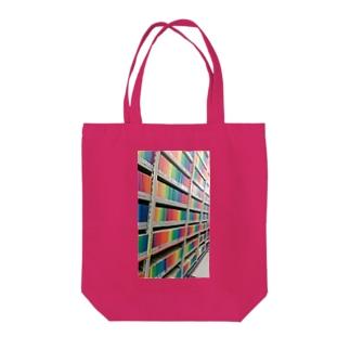 戸山図書館地下一階書棚 Tote bags
