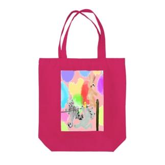 ゆめかわアニマル:桃色【犬猫鳥兎】 Tote bags
