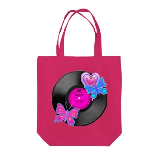 Butterfly record Tote bags