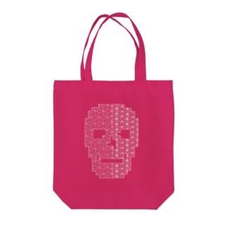 skull (刺し子) Tote bags