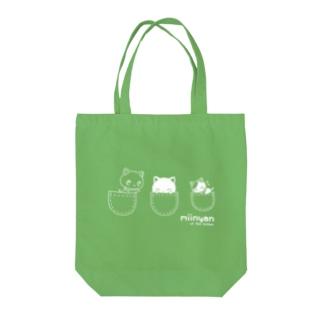 子猫のみーにゃん「ポケット」 Tote bags