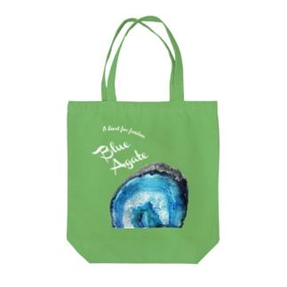 青瑪瑙|鉱物といっしょ Tote bags