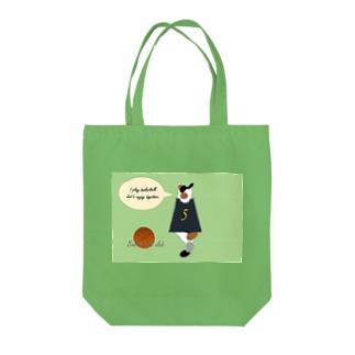三毛猫バスケ部 Tote bags