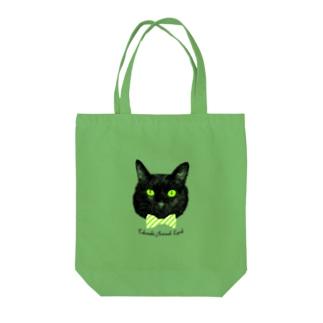 蝶ネクタイ黒猫 Tote bags