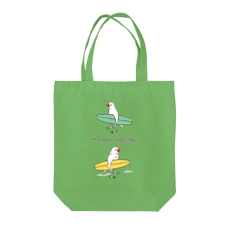 水浴びサーフィン Tote bags