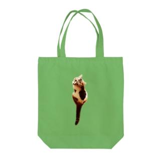 見返り三毛猫 Tote bags