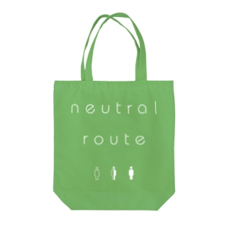 neutral route [White] トートバッグ
