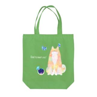 柴犬さんと蝶々さん Tote bags