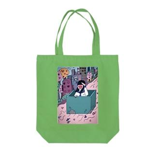 休業中ですのハコイリムスメ Tote bags