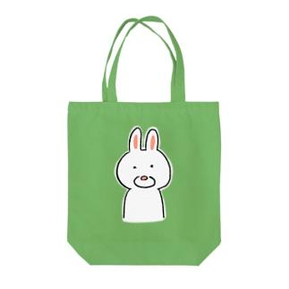 シンプルなうさぎ Tote bags