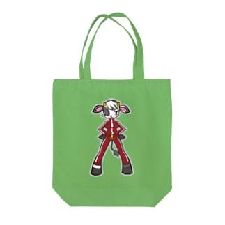 ジャージウシコ Tote bags