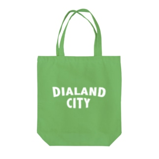 DIALAND CITY WHITE Tote bags