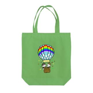 気球に乗る猫 Tote bags