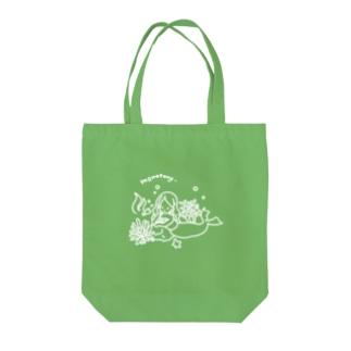 退屈な人魚白線バージョン Tote bags