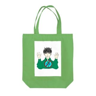 弱気な鬼ちゃん Tote bags