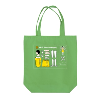 みよちゃん(NiloPlayUnique)文字白 Tote bags