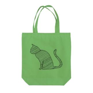 線の猫 Tote bags