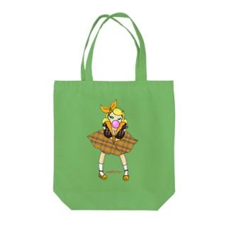 ロカビリーガールⅡ【orange】 Tote bags