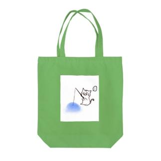 釣れぬ猫 Tote bags