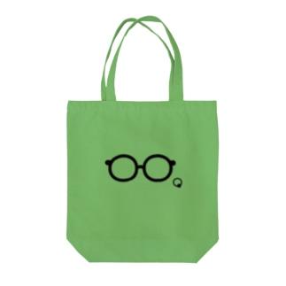 メガネイラストグッズ Tote bags