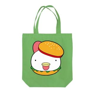 チキンバーガー Tote bags