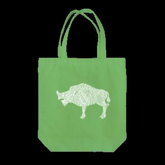 ヴンダーカンマーの亥(white) Tote bags