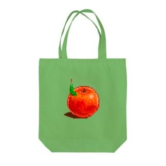 りんごとあおむし Tote bags