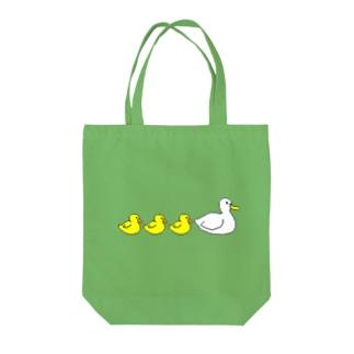 アヒルのファミリー Tote bags