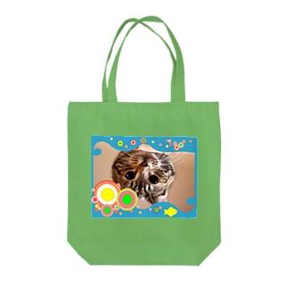逆さニャンコ(キッシュ) Tote bags